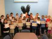 Students of the Month for January & Peer Helpers