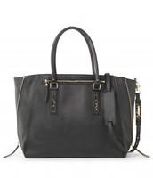 Madison Tech Bag - Black (leopard accents)