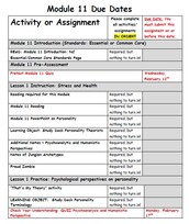 INFORM:  Assignments for Module 11