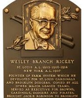 Branch Rickey hall of fame award.
