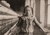 Young child in a textile factory.