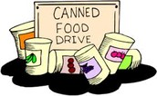 Student Council Annual Food Drive from Adviser Stacy Hedges