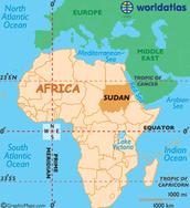 The map of Sudan