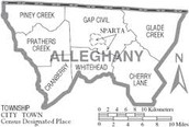 Districts of Alleghany County