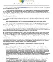 Director of Family Services & Health pg. 1