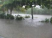 Rain and floods.