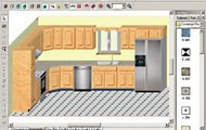 This is a 3d kitchen