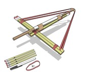 How to build a pencil crossbow like Leonardo da Vinci you can be an inventor