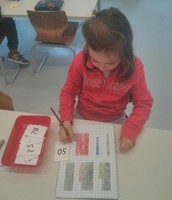 Working on place value with two digit numbers