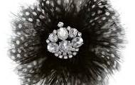 Plume Brooch (Black) $12