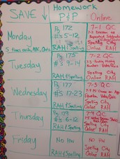 Check out the Homework for the week!