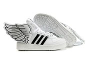 Flying Adidas shoes