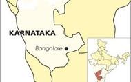 Karnataka and Bangalore on an India map