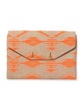 City clutch bag Aztec coral