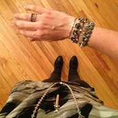 The arm candy enhances the chic look of the Katelyn Mixed bands