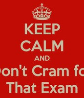 Don't Cram for Exams!