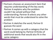 Using Words from Assessment Items