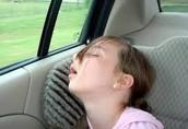 yo fui a dormir en el carro.