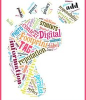 Khyathi's footprint as a elementary schooler.
