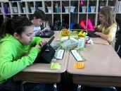 Students are busy working during Daily 5.