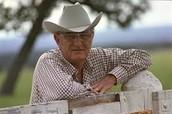 Lyndon B. Johnson at a ranch
