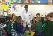 Second Grade Visit from a 3M Wizard