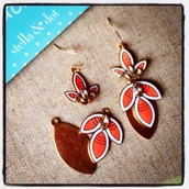Hibiscus Chandelier Earrings - £20