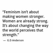 Feminist Theory: what it is, why i chose it, and why it matters to me.