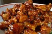 Yin Yang's orange chicken
