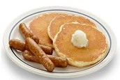 Mmmm!  Warm, buttery pancakes & sausage, too!