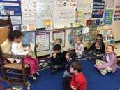 Natalie reading a book to our class!