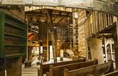 Het interieur van huizen of kerken