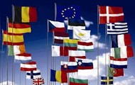 The flags of the 27 EU countries