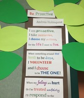 Mrs. Majewski is promoting leadership by helping students to be proactive.