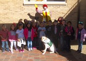 Mrs. Allison's class visited the Ronald McDonald House.