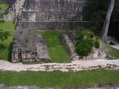 A ballcourt in Tikal, Guatemala