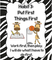 habit 3: put first thing first