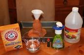 ingredinets to make a volcano!