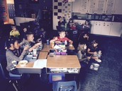 Lunch in the classroom!
