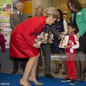 Queen Maxima with a child