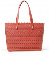 Avalon Leather Tote in RED Geranium