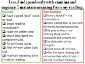 I read with a sense of urgency and stamina.