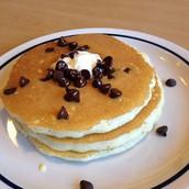 My favorite dessert is chocolate chip pancakes