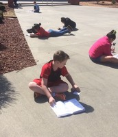 Enjoying the sunshine of the Courtyard!