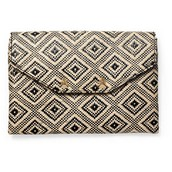 City Slim Clutch - Diamond Raffia