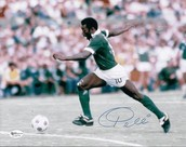 Pele with his Club Team New York Cosmos