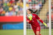 Hope Solo save's the ball once again