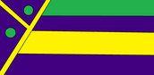 The purple in the flag stands for unity, the yellow stands for peace, and the green stands for equality.