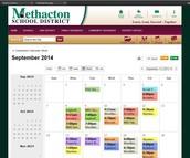Student Activities Calendar 2015-2016