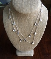 Demi layering necklace- silver
